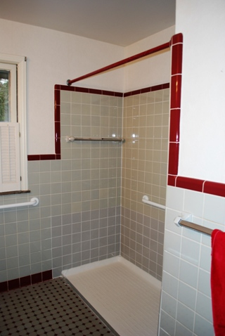 Corner Bath Shower Curtain Rail Grab Bars In Shower In Michigan