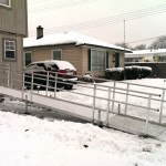 Aluminum Ramp in the Winter