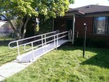 Front Entry Staright Aluminum Modular Ramp